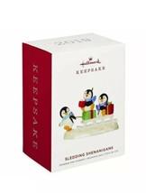 HALLMARK 2019 SLEDDING SHENANIGANS PENGUINS New Keepsake Ornament FREE S... - $29.99