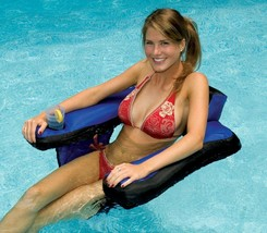 Pool Chair Floats For Adults With Cup Holder Inflatable Floating Water F... - $39.99