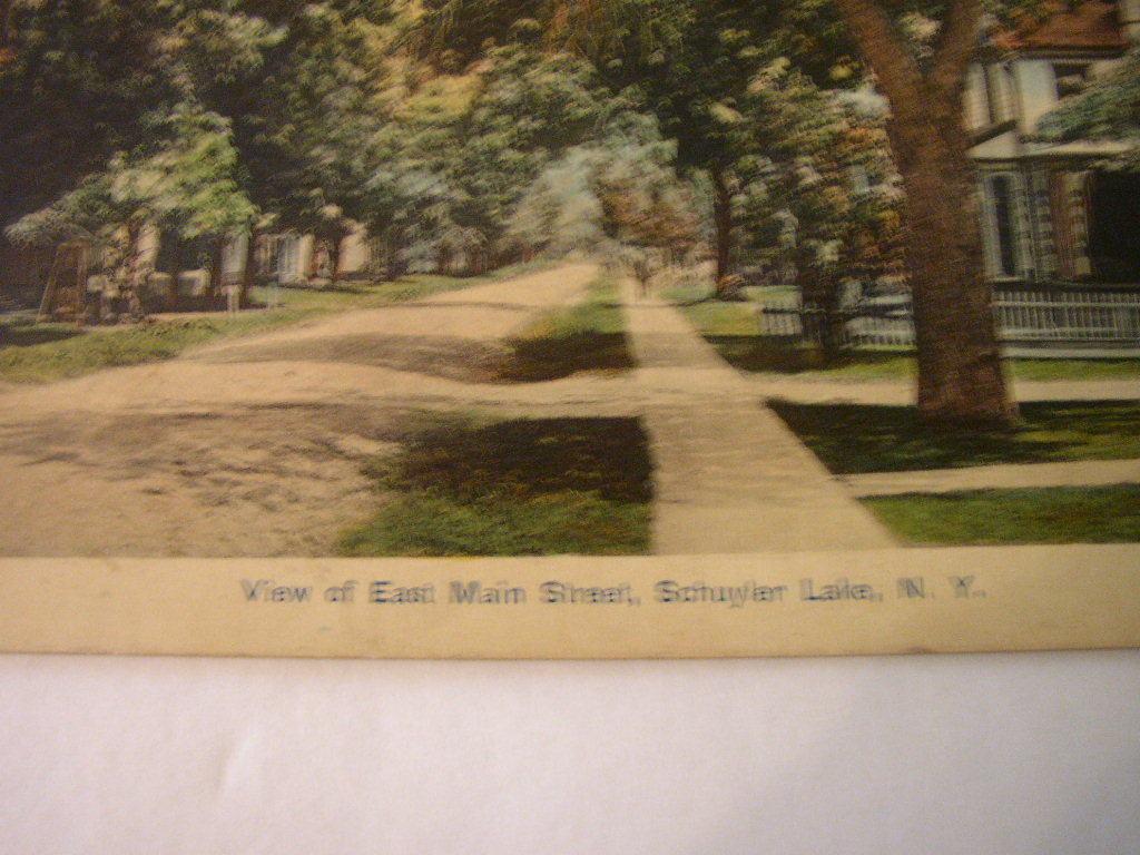 Postcard NY 1910 Schuyler Lake New York East Main Street Vintage