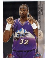 2000-01 Fleer Tradition Unsung Heroes Karl Malone Utah Jazz - $2.00