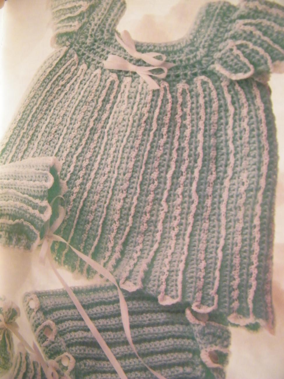 GIRL'S RUFFLED DRESS CROCHET PATTERN 1987 ANNIES ATTIC