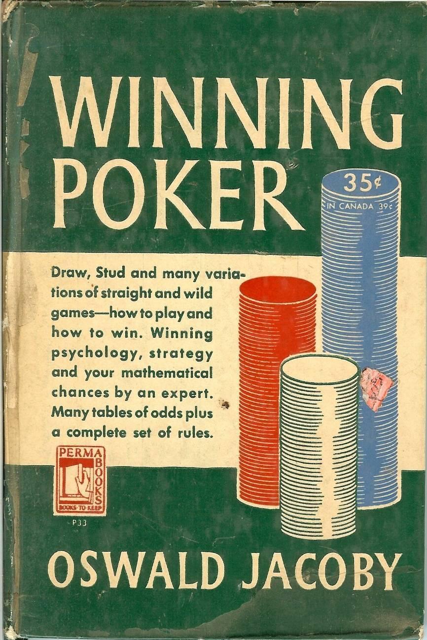 winning poker oswald jacoby 1949 vintage rare book