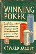 winning poker oswald jacoby 1949 vintage rare book image 1