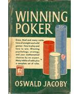 winning poker oswald jacoby 1949 vintage rare book - $6.98