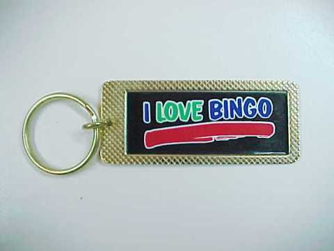 "Primary image for ""I Love Bingo"" Goldtone Metal Keychain Key Chain"