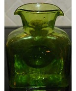 Blenko Green Water Bottle Carafe - Vintage - $35.00