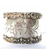 Victorian Edwardian Silver Napkin Ring Engraved Heavy No Monogram - $39.00