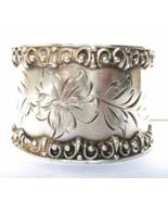 Victorian Edwardian Silver Napkin Ring Engrav... - $39.00