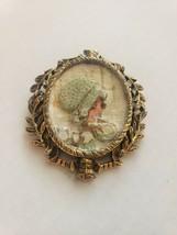 Vintage Little Bonnet Girl Pin - $24.25