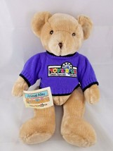 "Animal Alley Bear Tan Plush 16"" Times Square NY Sweater Stuffed Animal toy - $9.95"