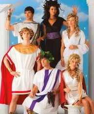 Simplicity 3647 Greek Toga Tunic Adult Costume Pattern