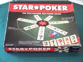 Star Poker Tile Game Pressman 1994 Complete VGC - $9.75