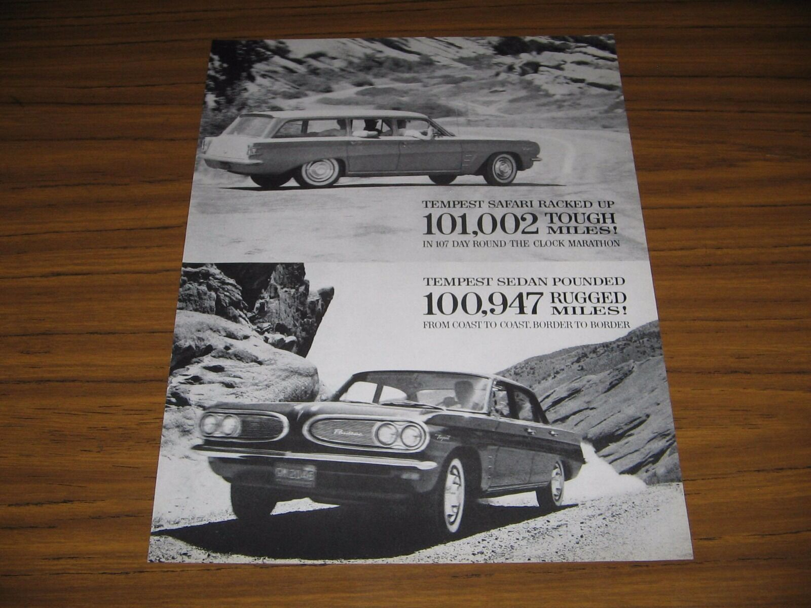 Primary image for 1960 Print Ad The 1961 Pontiac Tempest Safari Station Wagon & 4-Dr Sedan