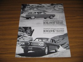 1960 Print Ad The 1961 Pontiac Tempest Safari Station Wagon & 4-Dr Sedan - $15.08
