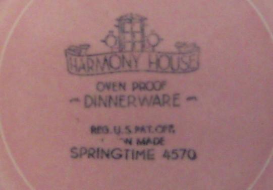 "2 Harmony House Springtime Pink Bread Plates 7 1/2"""