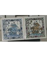 Azupal Pombal Blue & Brown Ships Ceramic Tile #18 & #10 - $24.99