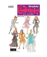 Simplicity 5363 Fantasy Womens Costume Pattern Fairy Pirate - $8.95
