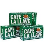 Lot of 3 Cafe La Llave Cuban Espresso 100% Pure Supreme Blend Ground Cof... - $19.99