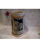 ANTIQUE German Beer Stein Mug Vintage Germany BUFFALO Cathedral Collector  - $49.95