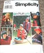 Simplicity 9781 Child's Winter Accessories Pattern  S-M-L - $8.95