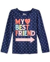 Epic Threads Little Girls' My Best Friend Dot-Print T-Shirt, Nedieval Bl... - $8.59