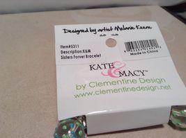 NEW Kate & Macy Hand Painted Glass Bracelet/Earring Sisters Forever Set image 6
