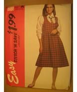 UNCUT Pattern 1992 EASY McCall SIZE Misses 6 8 10 12 Shirt JUMPER 6088 [Z25] - $3.99