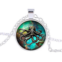 Octopus In Sea Cabochon Necklace >> Combined Shipping << (7131) - $4.21