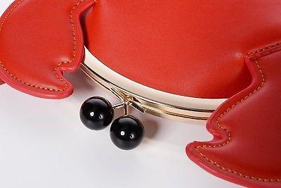 QZUnique Women's PU Crab Clasp Closure Tote Handbag Cute Satchel Cross Body Bag