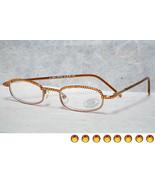 Jimmy Crystal New York GL180 Swarovski Reading Glasses Topaz Crystals - $59.99