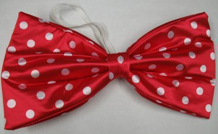 JUMBO RED WITH CLOWN BOWTIE WITH WHITE DOTS