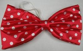 JUMBO RED WITH CLOWN BOWTIE WITH WHITE DOTS - $8.00