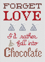 Forget Love Post Stitches cross stitch chart with charm Sue Hillis Designs image 1