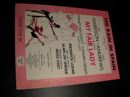 Sheet music the rain in spain my fair lady harrison andrews 1956 chappell  01 thumb200