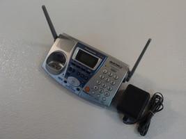 Panasonic Cordless Telephone Base Station Cradle Silver 2.4GHz 2 Line KX... - $35.20