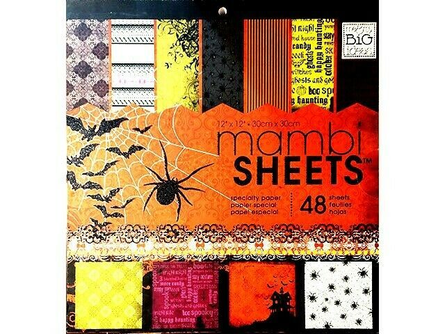 MAMBI Sheets Halloween Speciality12x12 Cardstock Paper Pad #PADX-122