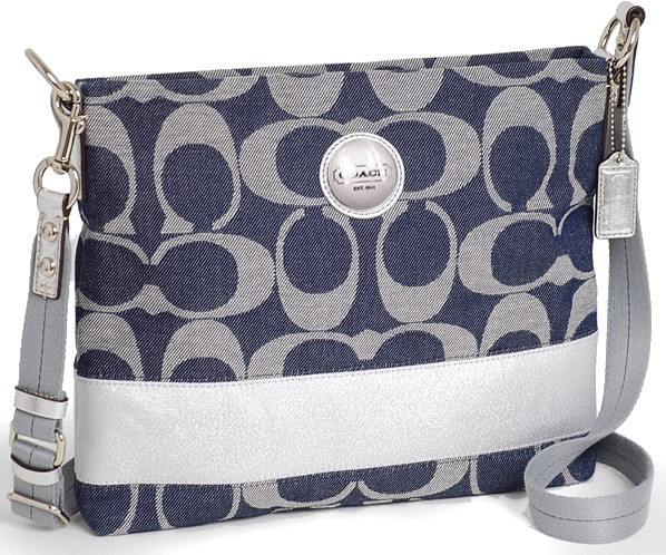 COACH Signature Stripe File Bag NWT 17435