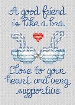 A Good Friend Post Stitches cross stitch chart with charm Sue Hillis Designs image 1