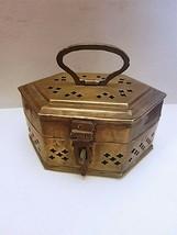 Antique Vintage Brass Box Incense Burner - $46.31