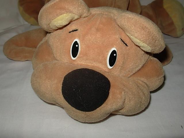 1993 Fisher Price Rumple Rumples Brown Plush Bear Black Nose
