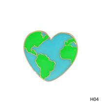Mapa Mundial corazón moda clavijas. dibujo pin fun Insignia Broche - $4.40