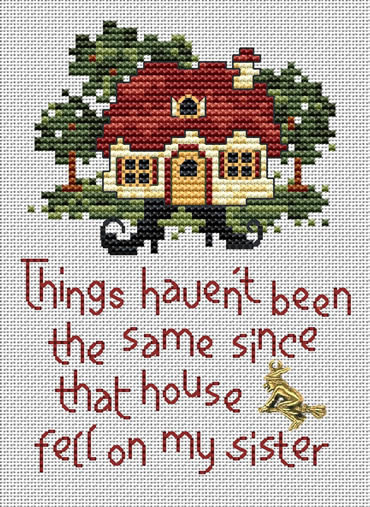 Witch's Fate Post Stitches cross stitch chart with charm Sue Hillis Designs