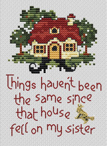 Witch's Fate Post Stitches cross stitch chart with charm Sue Hillis Designs image 1