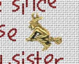 Witch's Fate Post Stitches cross stitch chart with charm Sue Hillis Designs image 2