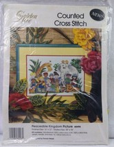 GOLDEN BEE CANDAMAR DESIGNS Counted Cross Stitch Kit PEACEABLE KINGDOM #... - $19.80