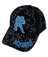 Zodiac Horoscope Sign Adult Size Adjustable Baseball Caps (Aquarius) - $11.95