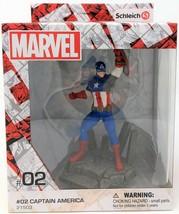 Schleich Marvel Captain America Steve Rogers Peint à la Main Figurine Jouet - $15.39