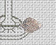 It's 5:00 Post Stitches cross stitch chart with charm Sue Hillis Designs image 2