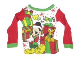 Infant Shirt Disney Mickey Mouse Pluto Christmas long sleeve  3T Toddlers cotton - $7.91