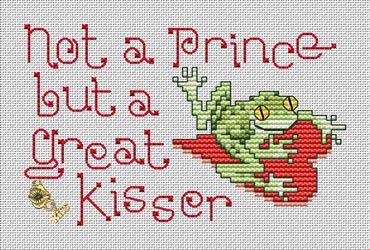 Not A Prince Post Stitches cross stitch chart with charm Sue Hillis Designs